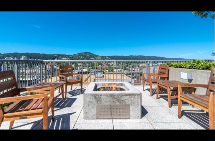 16th Floor Patio with Barbecue and Fire pit